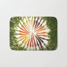 Carrot Color Wheel Bath Mat