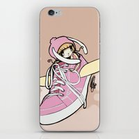sneaker iPhone & iPod Skins featuring Sneaker ridin' by catamariii