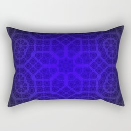 Blue Octogon Star Rectangular Pillow