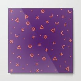 Happy Particle - Purple Metal Print