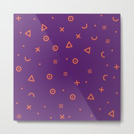 Happy Particle - Purple Metal Print
