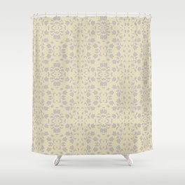 Embossed Floral Pattern Shower Curtain