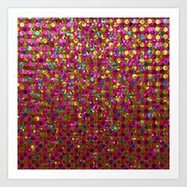 Polka Dot Sparkley Strass G266 Art Print