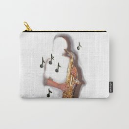 Saxophone Player music instrument abstract design Carry-All Pouch