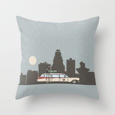 Ghostbusters Ecto-1 Throw Pillow