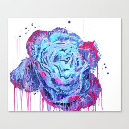 Weeping Blue Rose Canvas Print