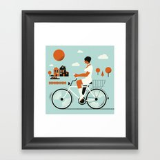 Bike riding ... Framed Art Print