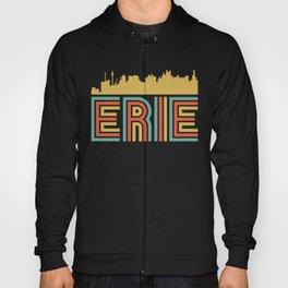 Vintage Style Erie Pennsylvania Skyline Hoody
