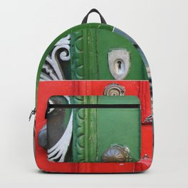 Colorful Door Collage Backpack