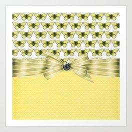 Butterscotch Butterflies Art Print