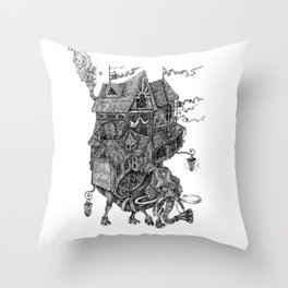 the wandering library 2 Throw Pillow