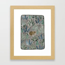 Save the frogs! Framed Art Print