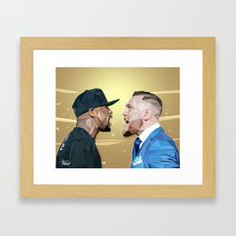 THE FIGHT OF THE CENTURY Framed Art Print