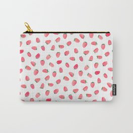 Strawberry Patch Watercolor Pattern Carry-All Pouch