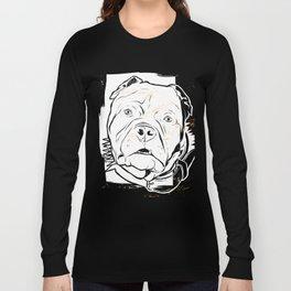 Pitbull black and white Long Sleeve T-shirt