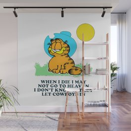when i die i may not go to heaven garfield Wall Mural