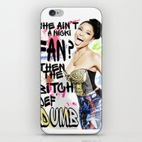 nicki iPhone & iPod Skins featuring She ain't a Nicki fan? by Society Apparel
