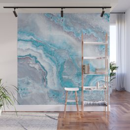 Ocean Foam Mermaid Marble Wall Mural