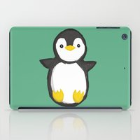 penguin iPad Cases featuring penguin by Julie Zhang