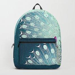 Peacock - Vintage Fantasy Bird Teal Blue Backpack