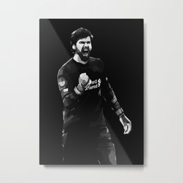 Alisson on White and Black Color Metal Print