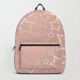 Rose Gold Stars  Backpack