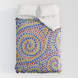 Swirling Dots 2 Comforters