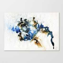 Brown and blue abstract Canvas Print