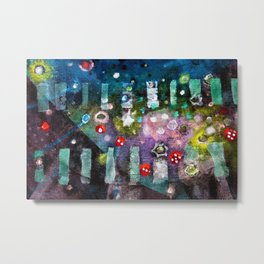 Portrait of the Universe (Rolling Dice) abstract painting by Scott Richard Metal Print