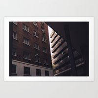 buildings Art Prints featuring buildings by Murphy Mortician