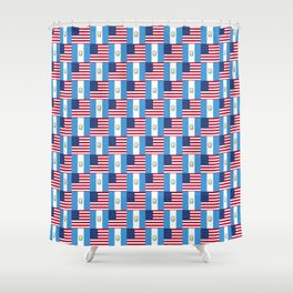 Mix of flag : Usa and Guatemala Shower Curtain