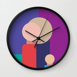 Family - Father, Mother, Child Wall Clock