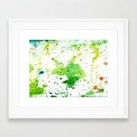 atlas Framed Art Prints featuring atlas by agnes Trachet