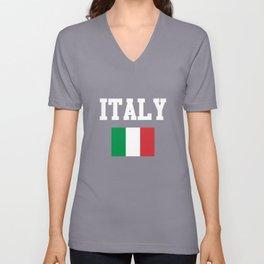 Italy National Flag Unisex V-Neck