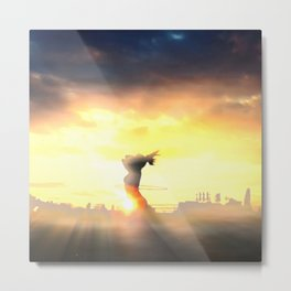 Sunrise on Top of the World Metal Print