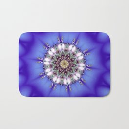 Romantic Blue Kaleidoscope Bath Mat