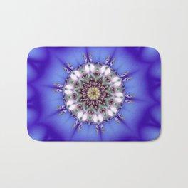 Romantic Blue Kaleidoscope Bath Mat