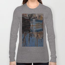 Reflections of Porthleven Harbour  Long Sleeve T-shirt