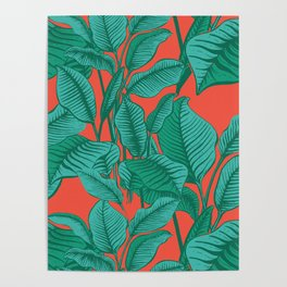 Exotic Tropical Palm Print Poster