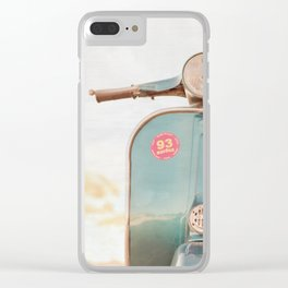 The Blue Vespa Clear iPhone Case