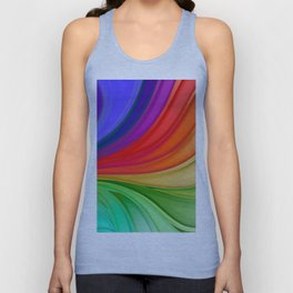 Abstract Rainbow Background Unisex Tank Top