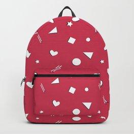 Red Symbol Pattern Backpack