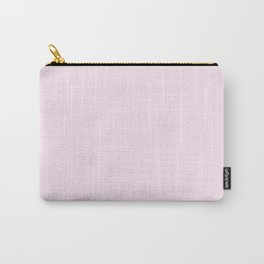 Peony Drama ~ Pale Pink Coordinating Solid Carry-All Pouch