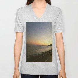 Oceanview Sunset Unisex V-Neck