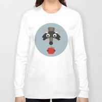 raccoon Long Sleeve T-shirts featuring raccoon  by Emma S