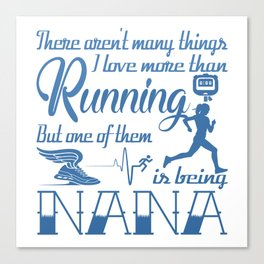 Running Nana Canvas Print
