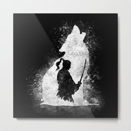 The Lone Samurai Metal Print