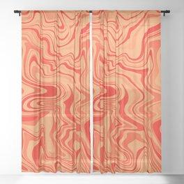 Magma Liquid Agate Sheer Curtain