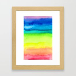 Rainbow Gradient Madness Watercolor by Imaginarium Creative Studios Framed Art Print