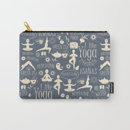 Yoga Lfestyle Seamless Pattern Carry-All Pouch